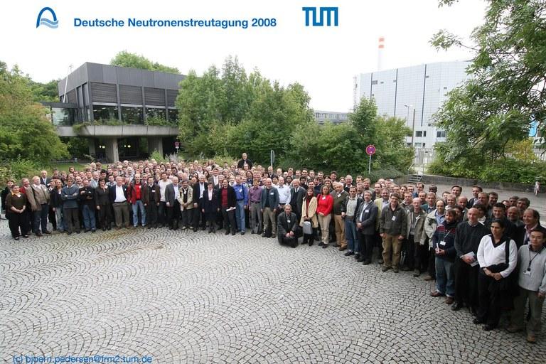 Gruppenfoto Deutsche Neutronenstreutagung 2008