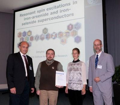 Verleihung des Wolfram-Prandl-Preises 2012 an Dr. D. Inosov