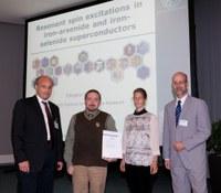 Prof. Dr. T. Unruh (FAU), Dr. D. Inosov (Max-Planck-Institut für Festkörperforschung), Dr. K. Griewatsch (CAU Kiel) and Prof. Dr. B. Keimer (Max-Planck-Institut für Festkörperforschung)