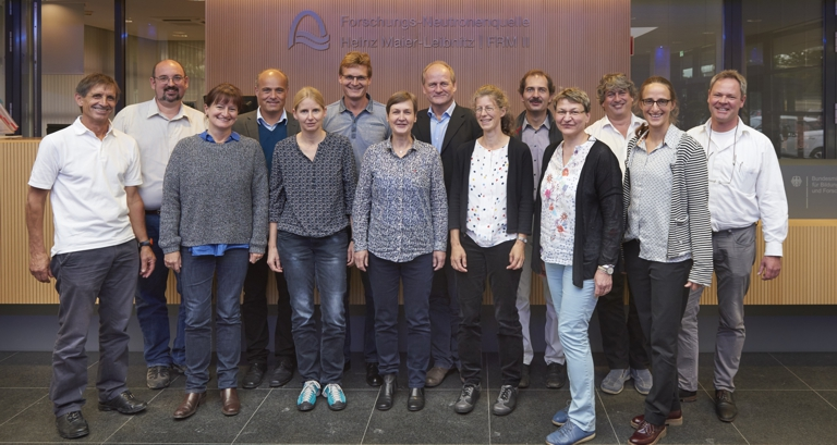 Members of the German Committee Research with Neutrons on Sept. 14, 2017 in Garching