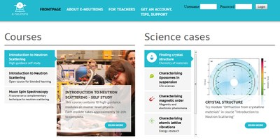 e-neutrons: an e-learning platform for neutron scattering